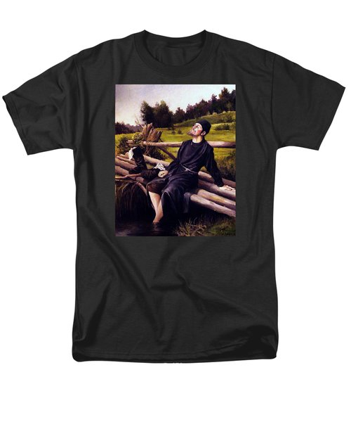 Men's T-Shirt  (Regular Fit) featuring the painting Joy Of Life by Mikhail Savchenko