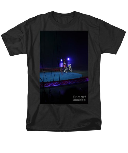 Men's T-Shirt  (Regular Fit) featuring the photograph Jumprope With Fido by Robert Meanor