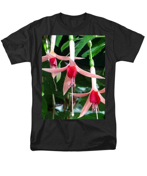 Men's T-Shirt  (Regular Fit) featuring the photograph Juneau Glacier Gardens Fuchsia by Jennifer Wheatley Wolf