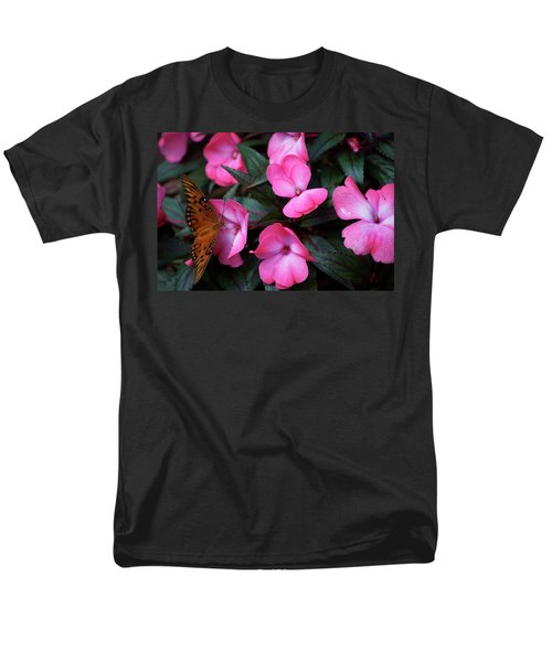Men's T-Shirt  (Regular Fit) featuring the photograph Just A Small Taste For This Butterfly by Thomas Woolworth