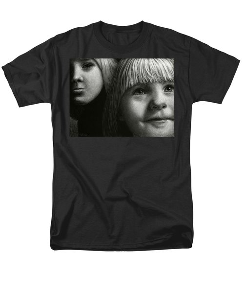Men's T-Shirt  (Regular Fit) featuring the drawing Just Playing by Sandra LaFaut