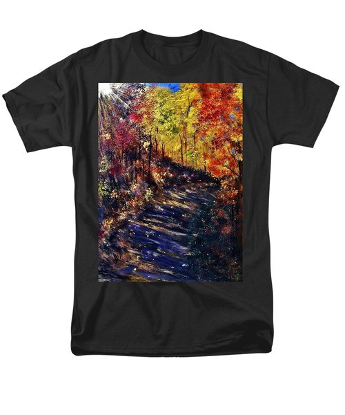 Men's T-Shirt  (Regular Fit) featuring the painting Just The Sound Of The Forest... by Cristina Mihailescu