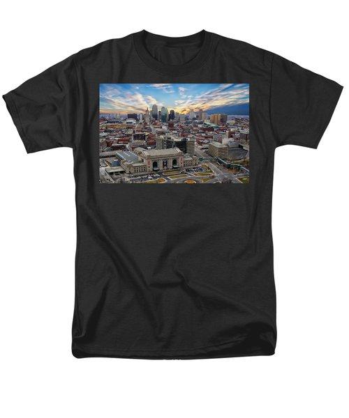 Kansas City Skyline Men's T-Shirt  (Regular Fit) by Anthony Dezenzio