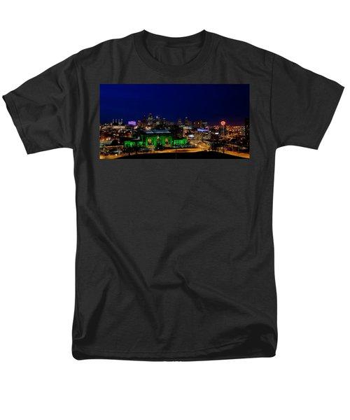 Kansas City Skyline Men's T-Shirt  (Regular Fit) by Sennie Pierson