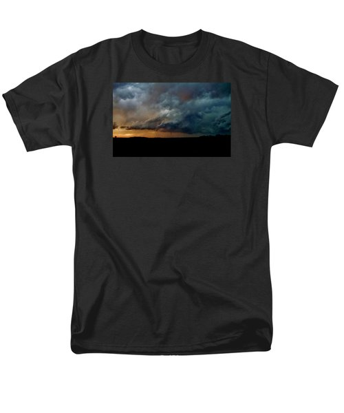 Kansas Tornado At Sunset Men's T-Shirt  (Regular Fit) by Ed Sweeney