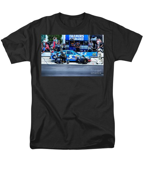 Kasey Kahne's Last Stop Before Victory Men's T-Shirt  (Regular Fit) by Tony Cooper