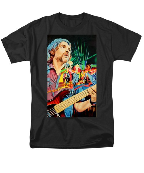 Men's T-Shirt  (Regular Fit) featuring the painting Keith Moseley At Horning's Hideout by Joshua Morton