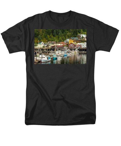 Ketchikan Harbor Men's T-Shirt  (Regular Fit) by Steven Bateson