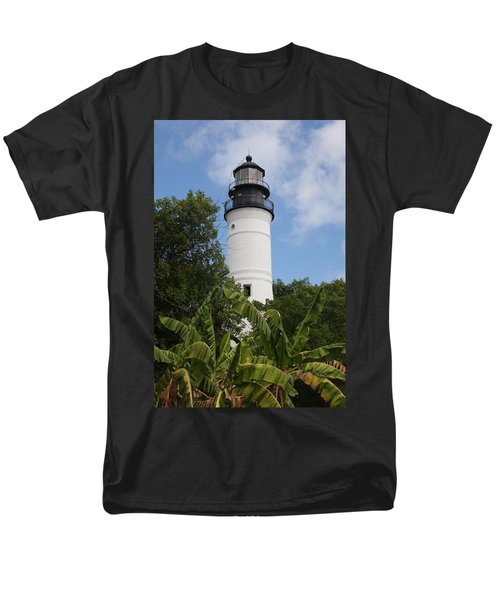 Key West Lighthouse  Men's T-Shirt  (Regular Fit) by Christiane Schulze Art And Photography