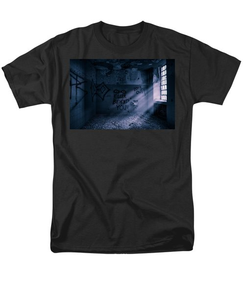 Men's T-Shirt  (Regular Fit) featuring the photograph Killer Behind You - Abandoned Hospital Asylum by Gary Heller