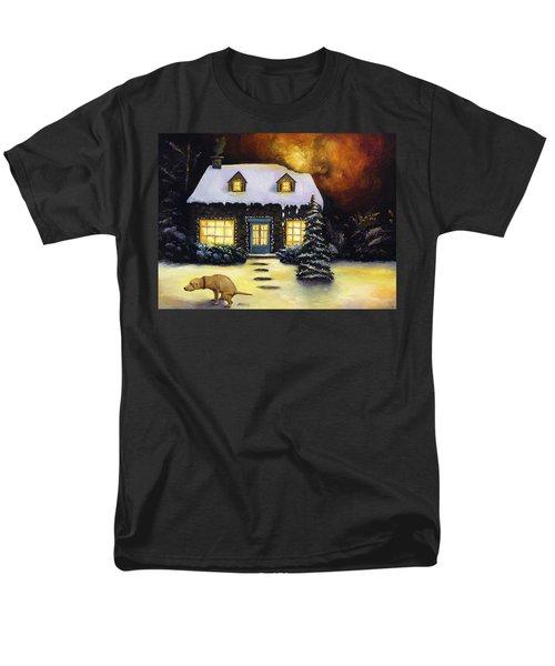 Kinkade's Worst Nightmare Men's T-Shirt  (Regular Fit) by Leah Saulnier The Painting Maniac