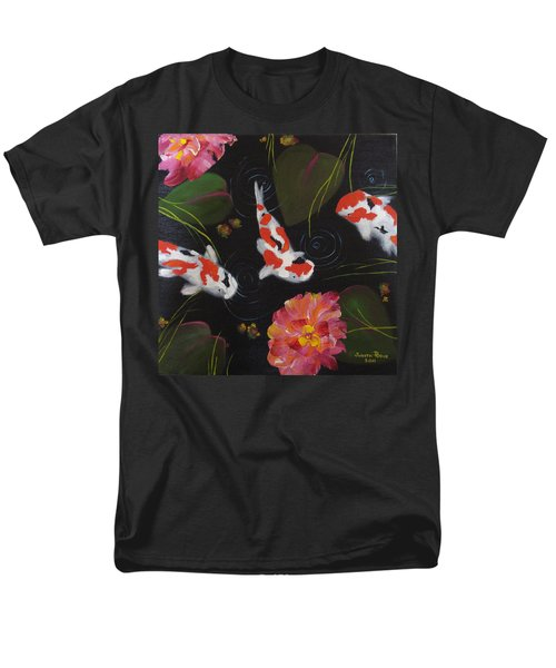 Men's T-Shirt  (Regular Fit) featuring the painting Kippycash Koi by Judith Rhue