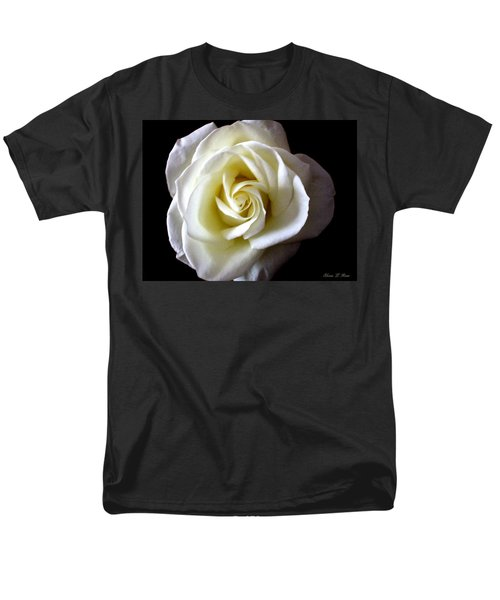 Men's T-Shirt  (Regular Fit) featuring the photograph Kiss Of A Rose by Shana Rowe Jackson