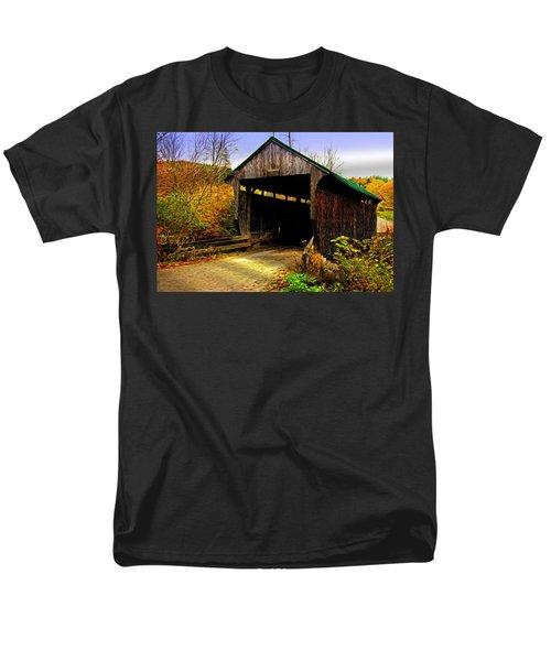 Men's T-Shirt  (Regular Fit) featuring the photograph Kissing Bridge by Bill Howard