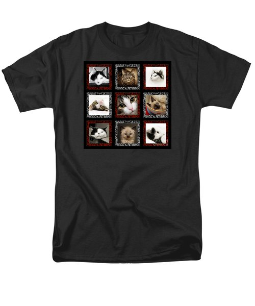 Men's T-Shirt  (Regular Fit) featuring the photograph Kitty Cat Tic Tac Toe by Andee Design