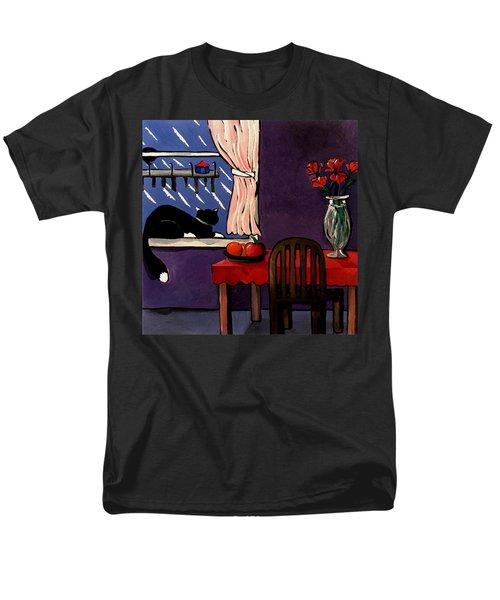 Kitty Over Manhattan Men's T-Shirt  (Regular Fit) by Lance Headlee