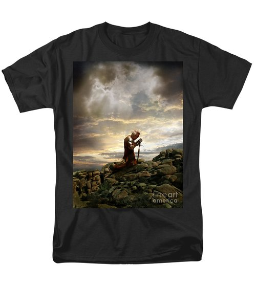 Kneeling Knight Men's T-Shirt  (Regular Fit) by Jill Battaglia