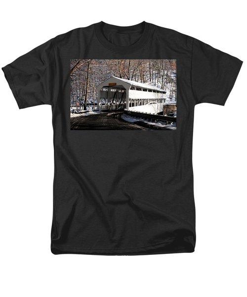 Knox Bridge In The Snow Men's T-Shirt  (Regular Fit) by Michael Porchik