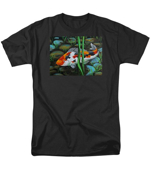 Koi Fish Men's T-Shirt  (Regular Fit) by Katherine Young-Beck