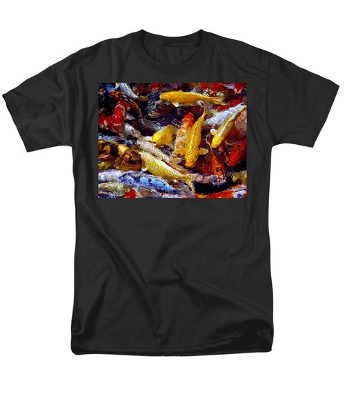 Men's T-Shirt  (Regular Fit) featuring the photograph Koi Pond by Marie Hicks