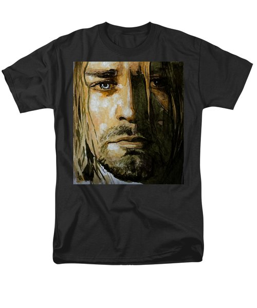 Men's T-Shirt  (Regular Fit) featuring the painting Kurt Cobain by Laur Iduc