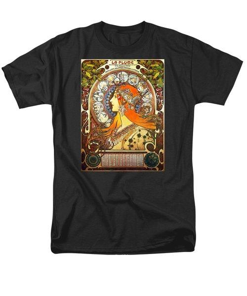 La Plume Zodiac Men's T-Shirt  (Regular Fit) by Alphonse Mucha