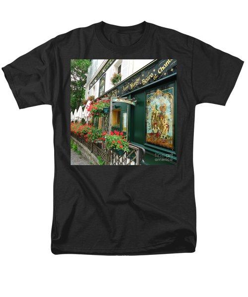 La Terrasse In Montmartre Men's T-Shirt  (Regular Fit) by Barbie Corbett-Newmin