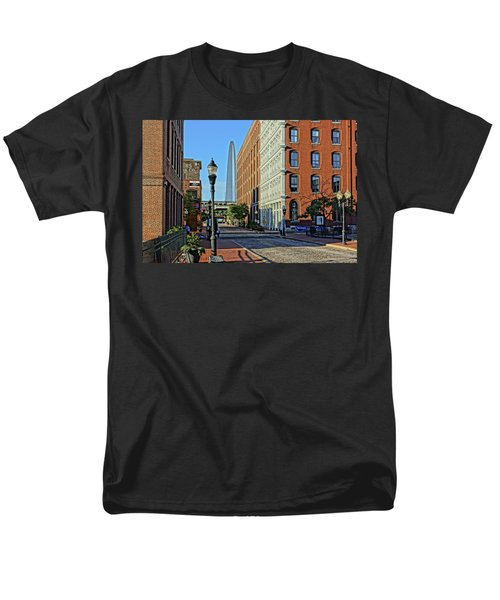 Laclede's Landing Just North Of The Arch Men's T-Shirt  (Regular Fit) by Greg Kluempers