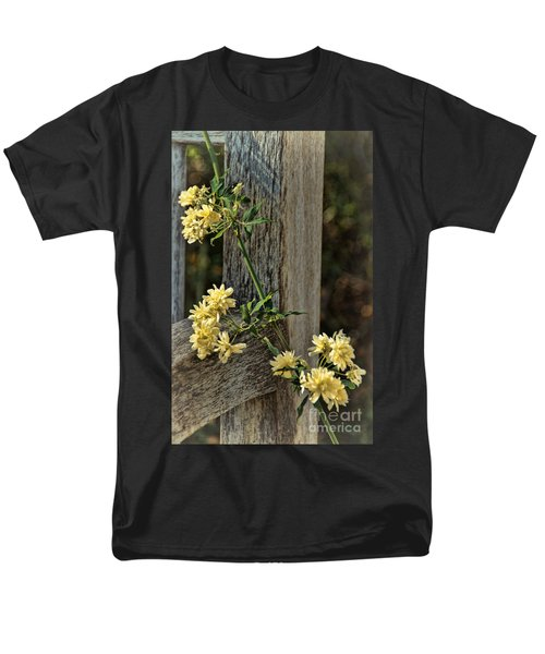 Men's T-Shirt  (Regular Fit) featuring the photograph Lady Banks Rose by Peggy Hughes