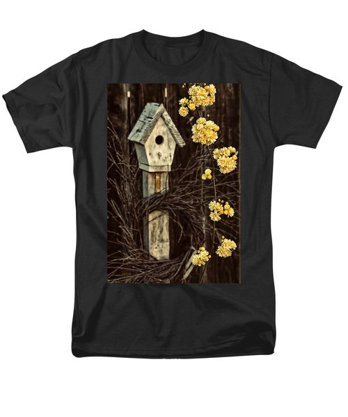 Lady Banks Roses Men's T-Shirt  (Regular Fit) by Caitlyn  Grasso