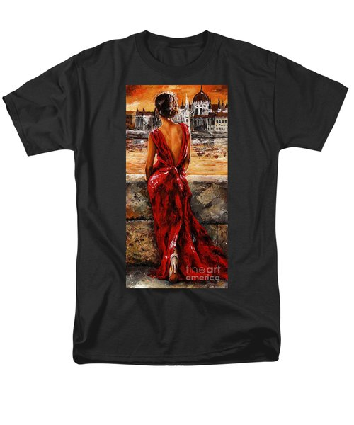 Lady In Red  34 -  I Love Budapest Men's T-Shirt  (Regular Fit) by Emerico Imre Toth