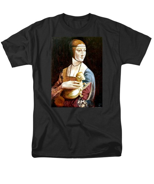 Men's T-Shirt  (Regular Fit) featuring the painting Lady With An Ermine by Henryk Gorecki