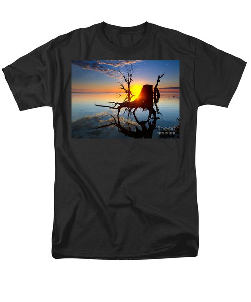 Men's T-Shirt  (Regular Fit) featuring the photograph Lake Bonney Sunrise by Bill  Robinson