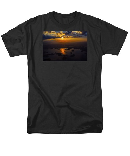 Lake Norman Sunrise Men's T-Shirt  (Regular Fit) by Greg Reed