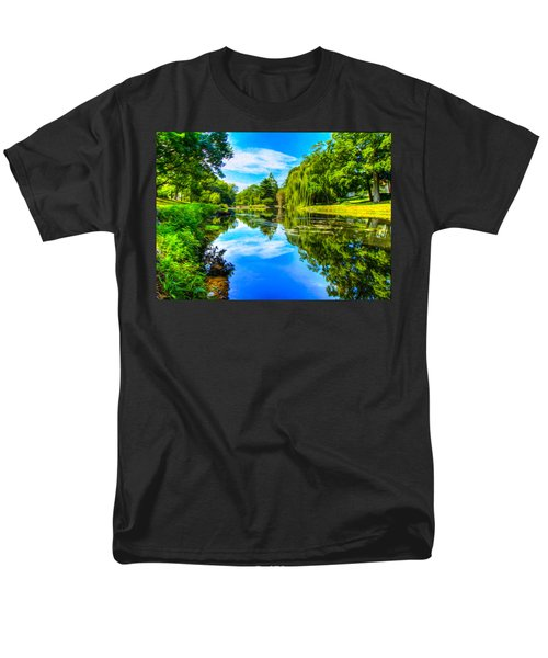 Lake Scene Men's T-Shirt  (Regular Fit)