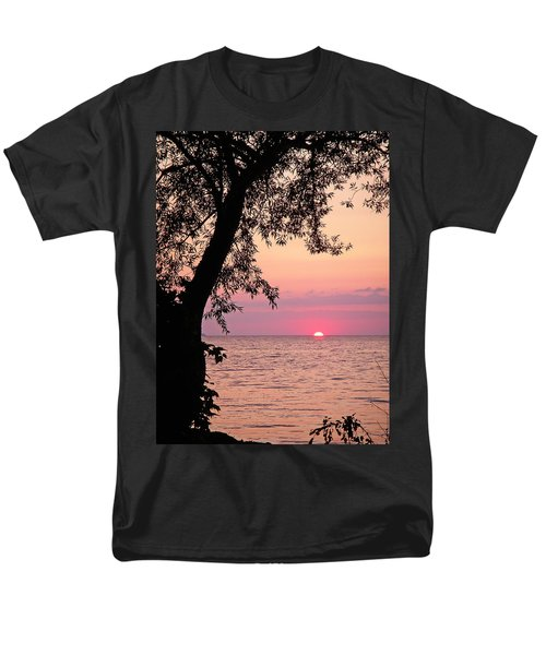 Lake Sunset Men's T-Shirt  (Regular Fit) by Aimee L Maher Photography and Art Visit ALMGallerydotcom