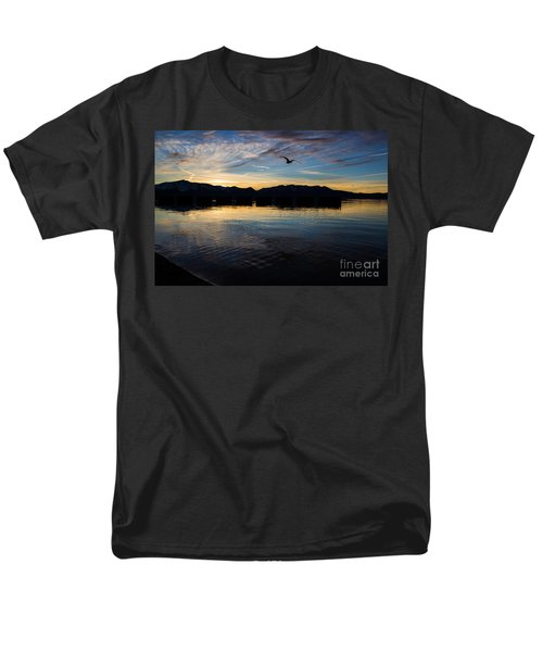Lake Tahoe Sunset Men's T-Shirt  (Regular Fit) by Suzanne Luft