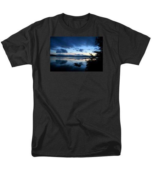 Lake Umbagog Sunset Blues No. 2 Men's T-Shirt  (Regular Fit) by Neal Eslinger
