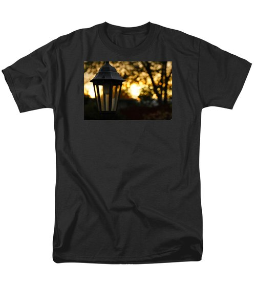 Men's T-Shirt  (Regular Fit) featuring the photograph Lamplight by Photographic Arts And Design Studio