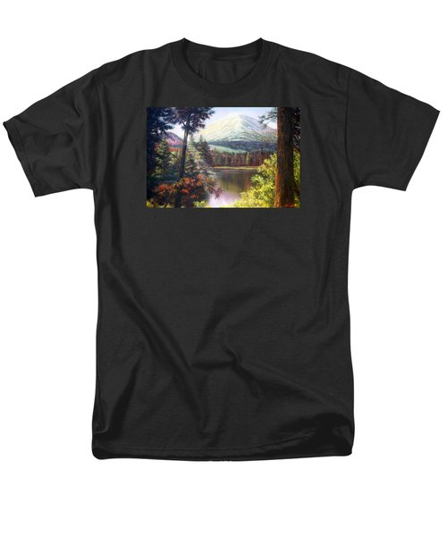 Landscape-lake And Trees Men's T-Shirt  (Regular Fit) by Loxi Sibley