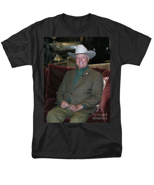 Larry Hagman Men's T-Shirt  (Regular Fit) by Nina Prommer