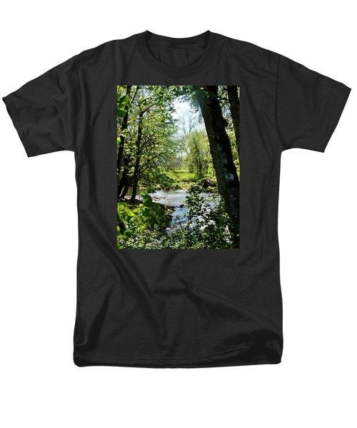 Men's T-Shirt  (Regular Fit) featuring the photograph Larwood Stream by VLee Watson