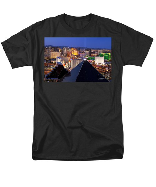 Las Vegas Skyline Men's T-Shirt  (Regular Fit) by Brian Jannsen