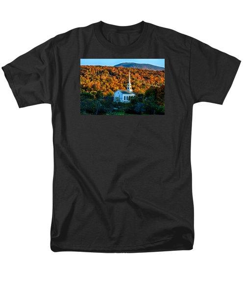 Last Rays Of Autumn Sun On Stowe Church Men's T-Shirt  (Regular Fit) by Jeff Folger