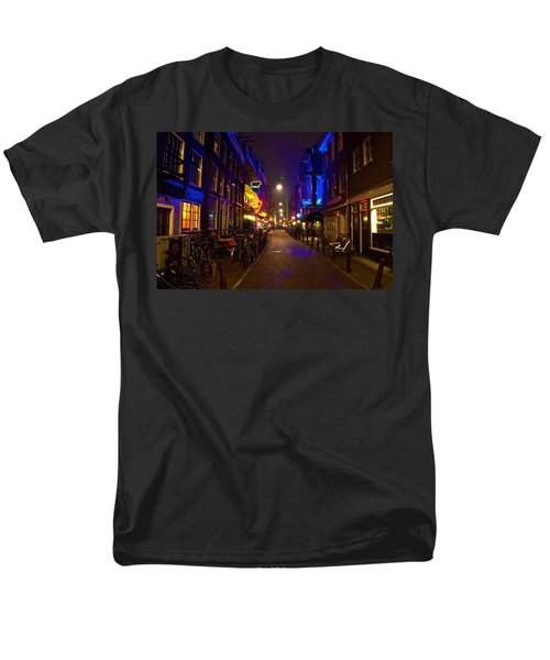 Men's T-Shirt  (Regular Fit) featuring the photograph Late Night Neon  by Jonah  Anderson