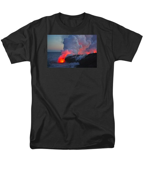 Lava Flow At Sunset In Kalapana Men's T-Shirt  (Regular Fit) by Venetia Featherstone-Witty
