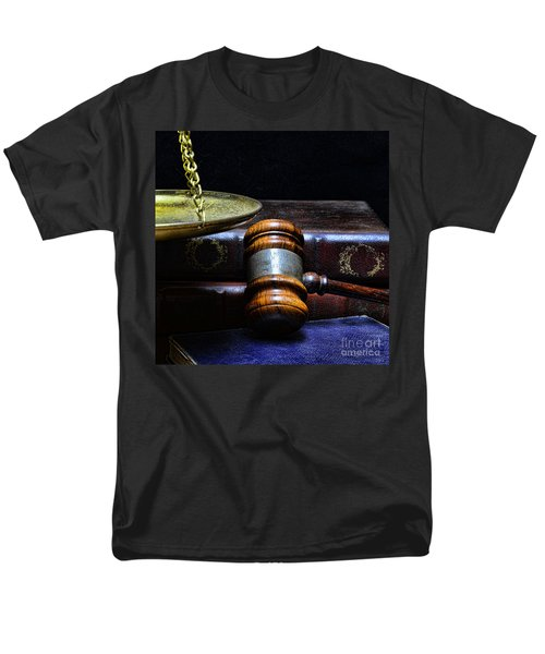 Lawyer - Books Of Justice Men's T-Shirt  (Regular Fit) by Paul Ward