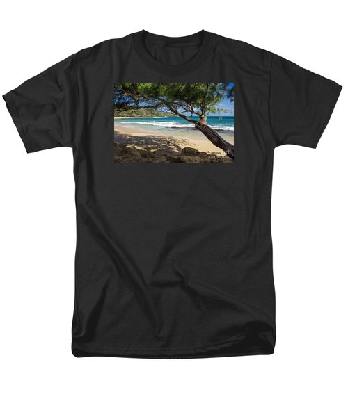 Men's T-Shirt  (Regular Fit) featuring the photograph Lazy Day At The Beach by Suzanne Luft