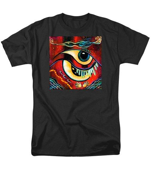 Men's T-Shirt  (Regular Fit) featuring the painting Leadership Spirit Eye by Deborha Kerr