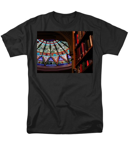Men's T-Shirt  (Regular Fit) featuring the photograph Lehigh University Linderman Library Books by Jacqueline M Lewis